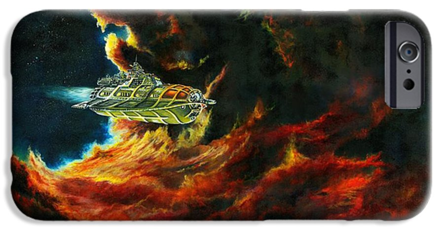 Devil IPhone 6 Case featuring the painting The Devil's Lair by Murphy Elliott