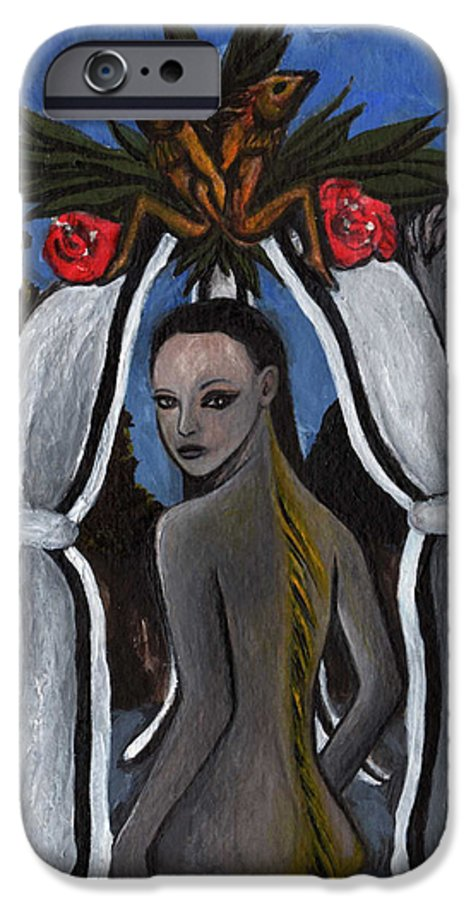 Mermaid IPhone 6 Case featuring the painting The Fable Of The Fish by Ayka Yasis