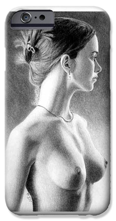 Pastel IPhone 6 Case featuring the painting The Girl With The Glass Earring by Joseph Ogle