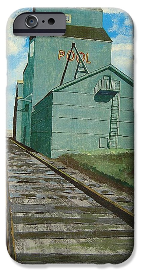 Elevator IPhone 6 Case featuring the painting The Grain Elevator by Anthony Dunphy