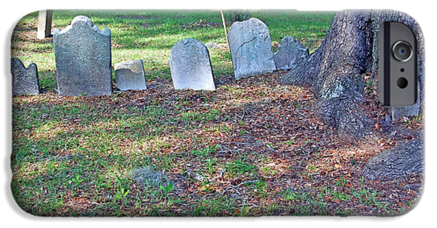 Grave IPhone 6 Case featuring the photograph The Headstones Of Slaves by Suzanne Gaff