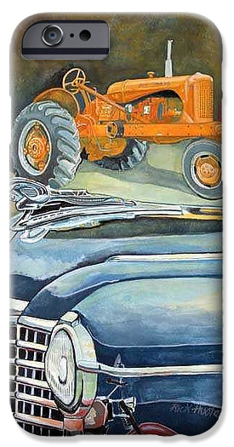 Rick Huotari IPhone 6 Case featuring the painting The Old Farm by Rick Huotari