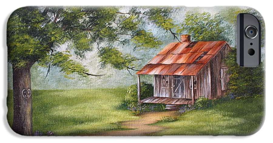Oil IPhone 6 Case featuring the painting The Old Homestead by Ruth Bares