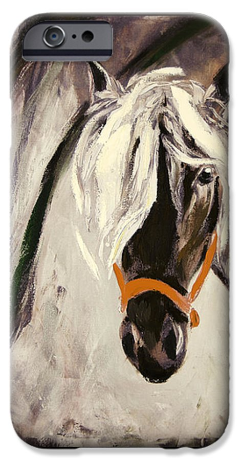 Horses IPhone 6 Case featuring the painting The Performer by Gina De Gorna