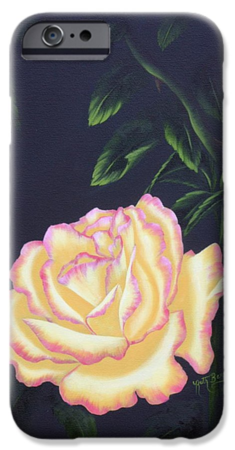 Rose IPhone 6 Case featuring the painting The Rose by Ruth Bares