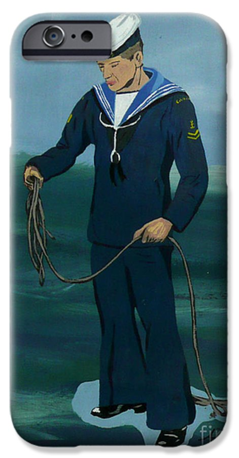 Sailor IPhone 6 Case featuring the painting The Sailor by Anthony Dunphy