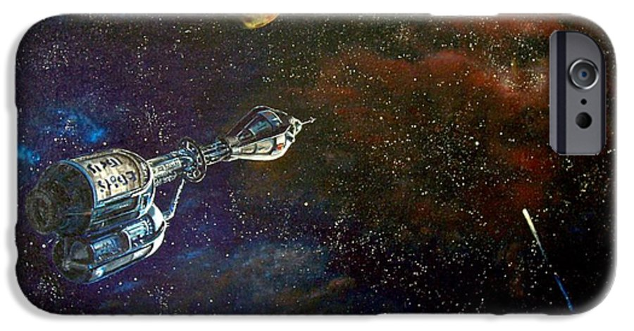 Vista Horizon IPhone 6 Case featuring the painting The Search For Earth by Murphy Elliott
