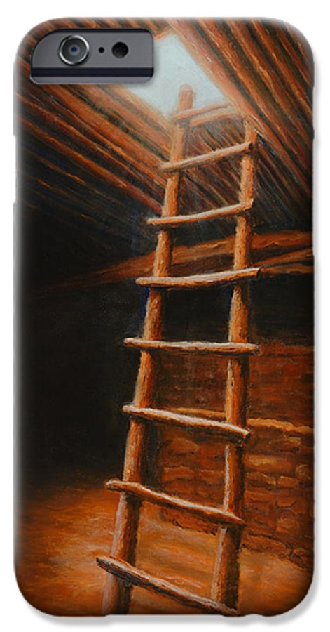 Kiva IPhone 6 Case featuring the painting The Second World by Jerry McElroy