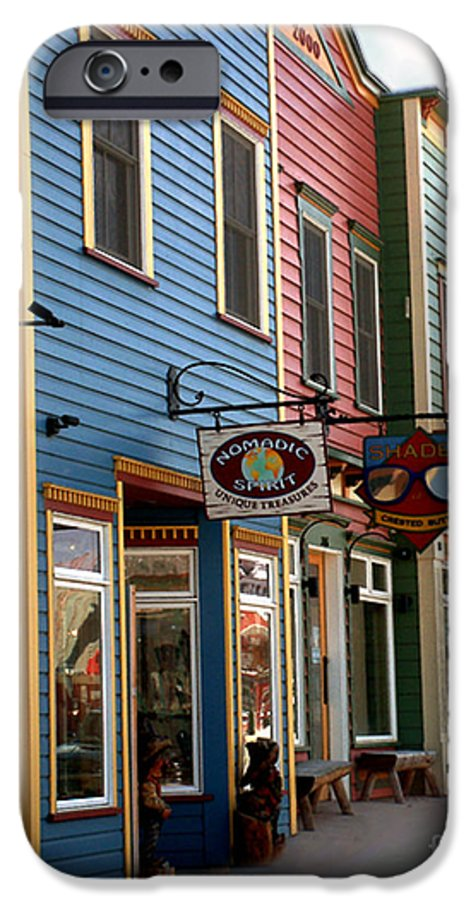 Landscape IPhone 6 Case featuring the photograph The Shops In Crested Butte by RC DeWinter