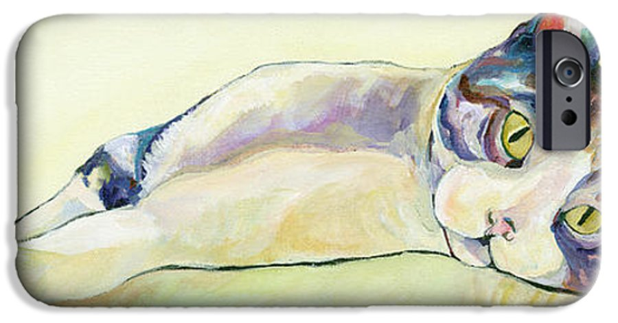 Pat Saunders-white Canvas Prints IPhone 6 Case featuring the painting The Sunbather by Pat Saunders-White