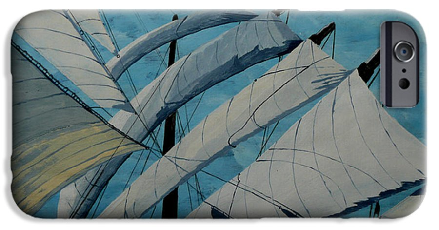 Sails IPhone 6 Case featuring the painting The Tower Of Power by Anthony Dunphy