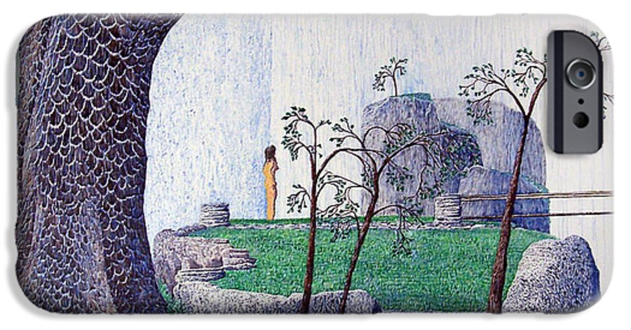 Landscape IPhone 6 Case featuring the painting The Yearning Tree by A Robert Malcom
