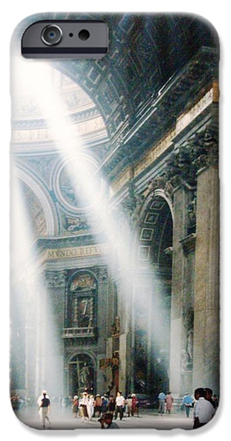Cathedral IPhone 6 Case featuring the painting This Needs No Further Title by Bruce Combs - REACH BEYOND