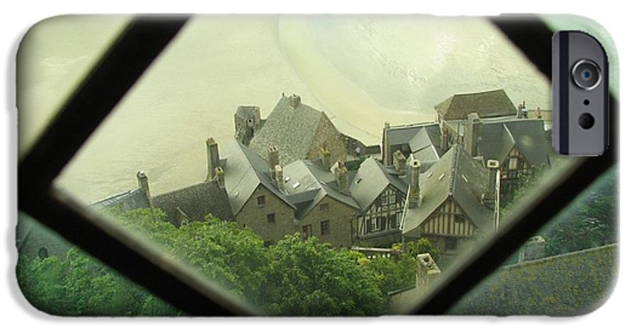 Le Mont St-michel IPhone 6 Case featuring the photograph Through A Window To The Past by Mary Ellen Mueller Legault