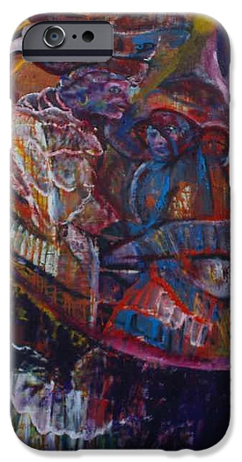 African Women IPhone 6 Case featuring the painting Tikor Woman by Peggy Blood