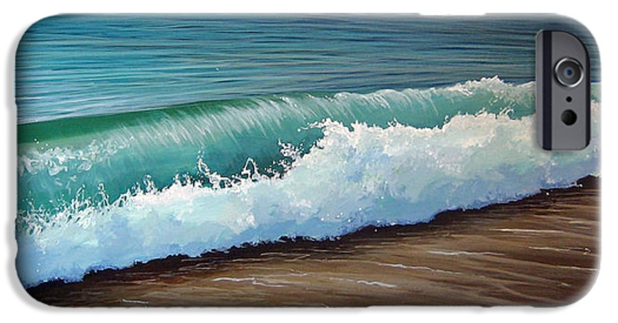 Wave On A Florida Beach IPhone 6 Case featuring the painting To The Shore by Hunter Jay