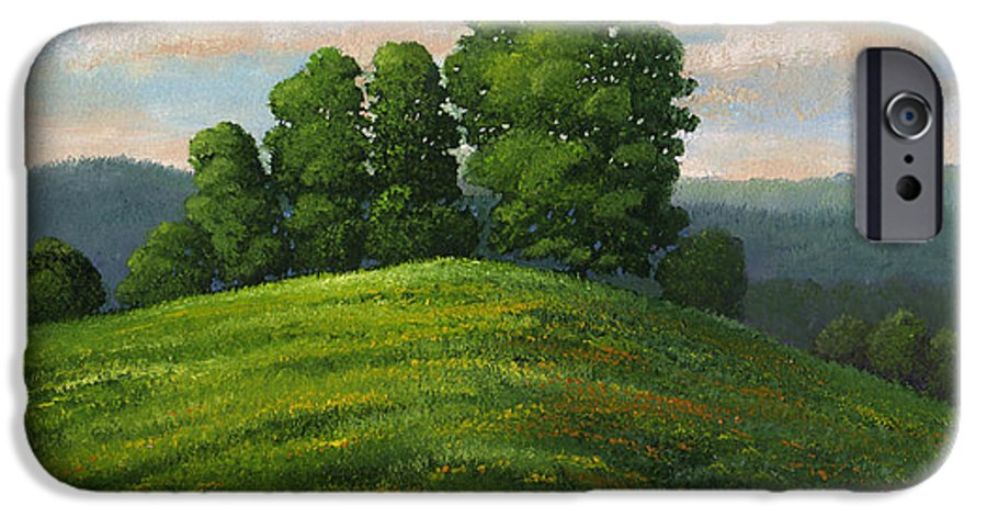 Landscape IPhone 6 Case featuring the painting Toboggan Hill by Frank Wilson
