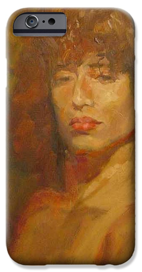 Portrait IPhone 6 Case featuring the painting Tracy by Irena Jablonski