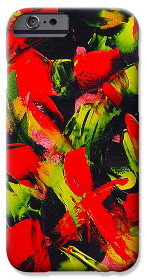 Abstract IPhone 6 Case featuring the painting Transitions IIi by Dean Triolo