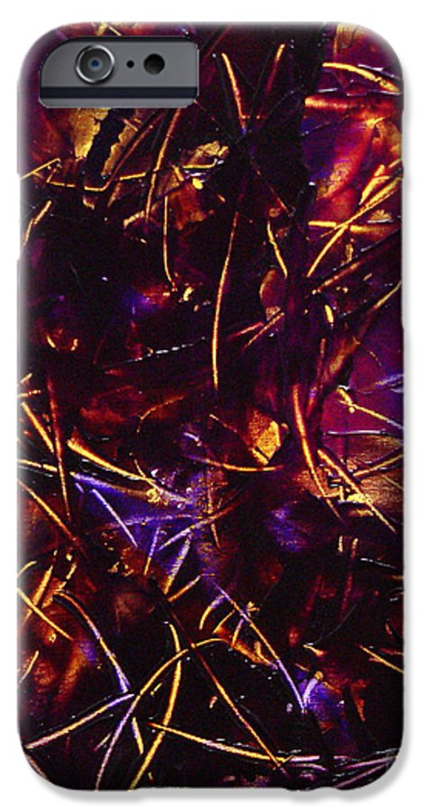Abstract IPhone 6 Case featuring the painting Transitions X by Dean Triolo
