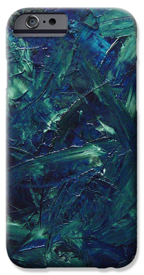 Abstract IPhone 6 Case featuring the painting Transtions Xi by Dean Triolo