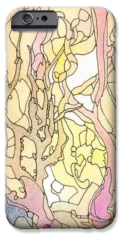 Landscape IPhone 6 Case featuring the painting Trees In The Morning by Christina Rahm Galanis