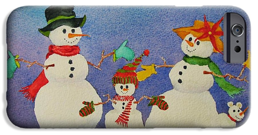 Winter IPhone 6 Case featuring the painting Tres Chic by Mary Ellen Mueller Legault