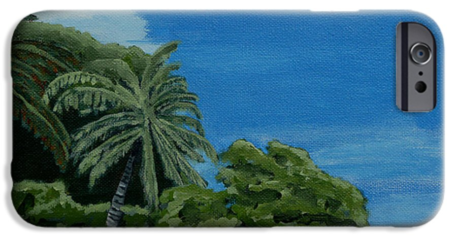 Beach IPhone 6 Case featuring the painting Tropical Beach by Anthony Dunphy