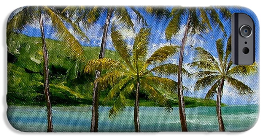 Summer IPhone 6 Case featuring the painting Tropical Paradize by Inna Montano