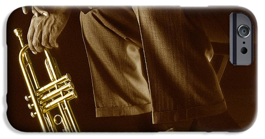 Trumpet IPhone 6 Case featuring the photograph Trumpet 2 by Tony Cordoza