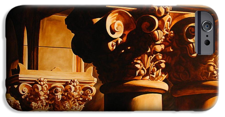 Corinthian Columns IPhone 6 Case featuring the painting Turn Of The Century by Keith Gantos