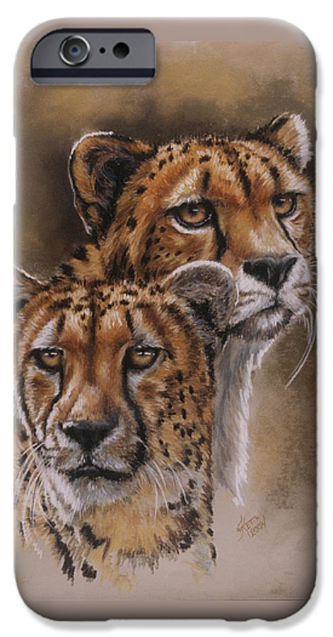 Cheetah IPhone 6 Case featuring the pastel Twins by Barbara Keith