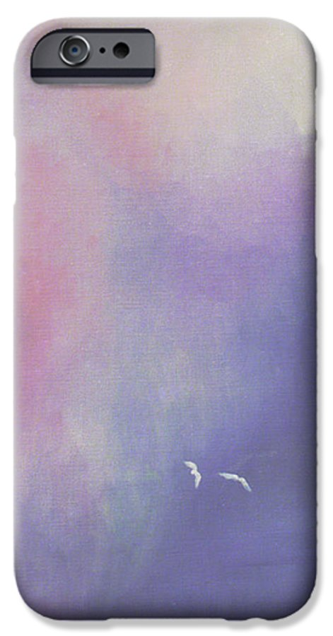 Sky IPhone 6 Case featuring the painting Two Birds Flying In Ravine. by Christina Rahm Galanis
