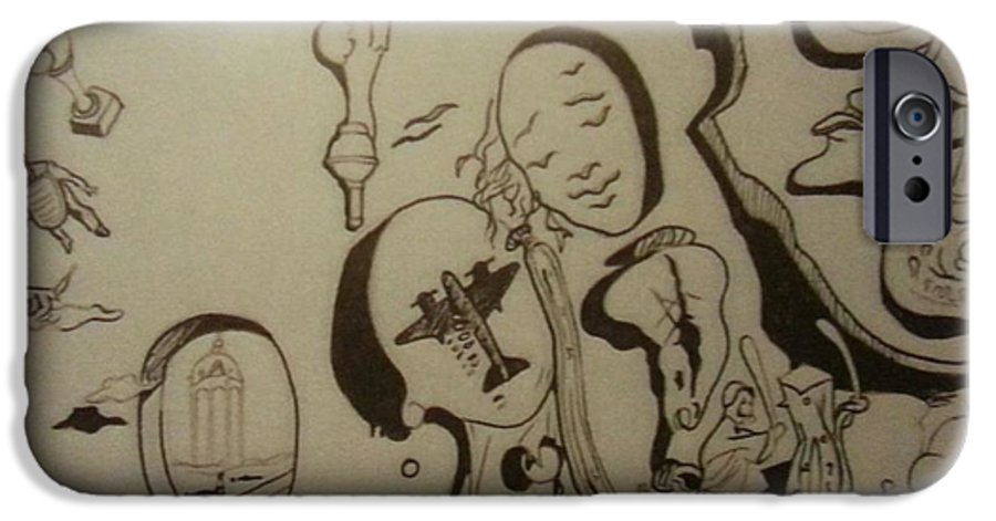 IPhone 6 Case featuring the drawing Untitled by Jude Darrien