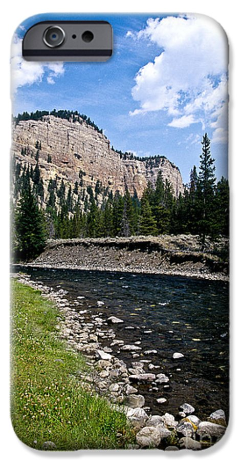 Landscape IPhone 6 Case featuring the photograph Upriver In Washake Wilderness by Kathy McClure