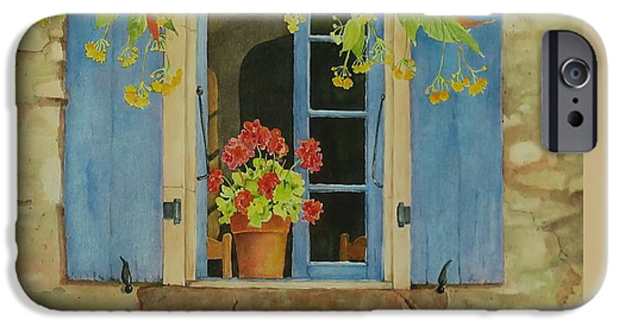 France IPhone 6 Case featuring the painting Vacation Memory by Mary Ellen Mueller Legault