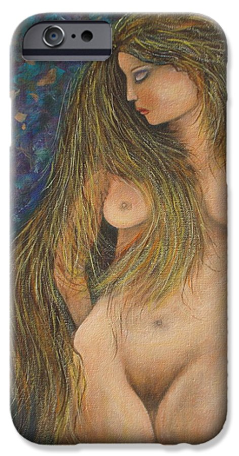 Woman IPhone 6 Case featuring the painting Valencina by Natalie Holland