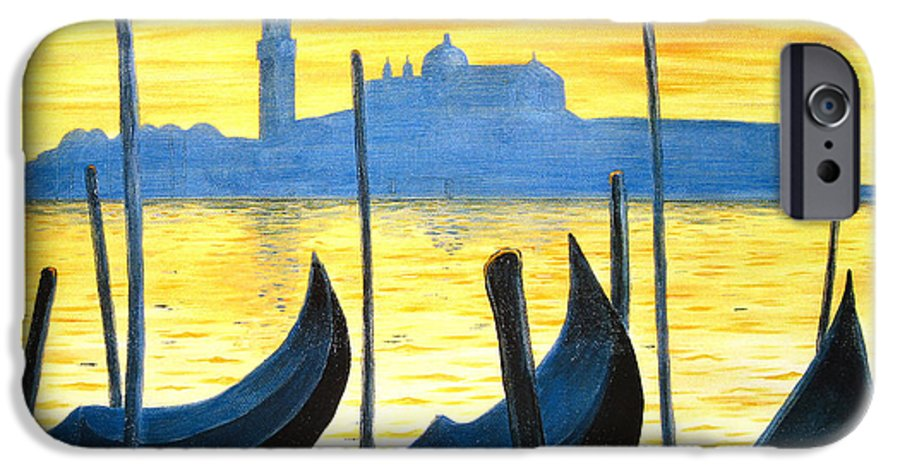 Venice IPhone 6 Case featuring the painting Venezia Venice Italy by Jerome Stumphauzer