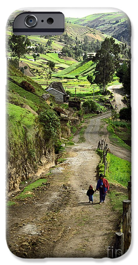 Ecuador IPhone 6 Case featuring the photograph View Of Lupaxi by Kathy McClure