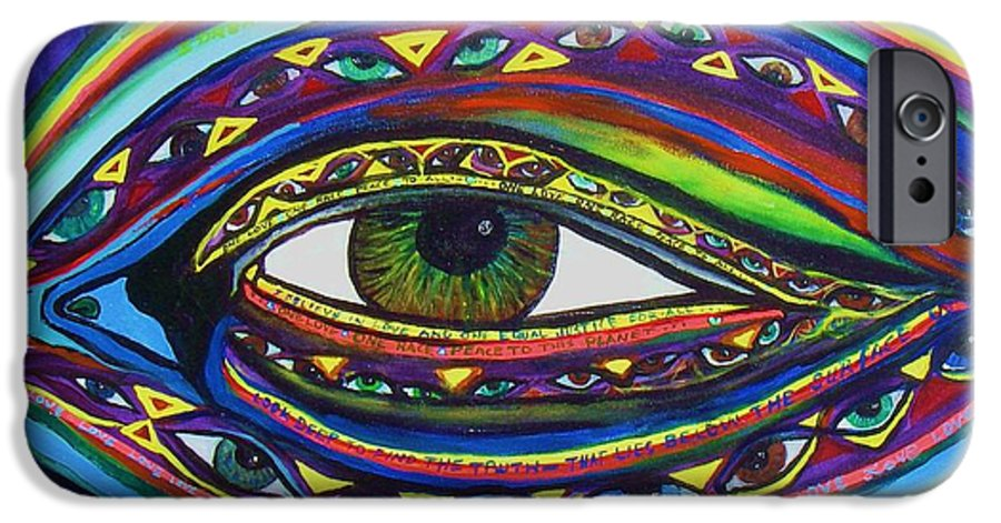Vision IPhone 6 Case featuring the painting Vision by J Andrel