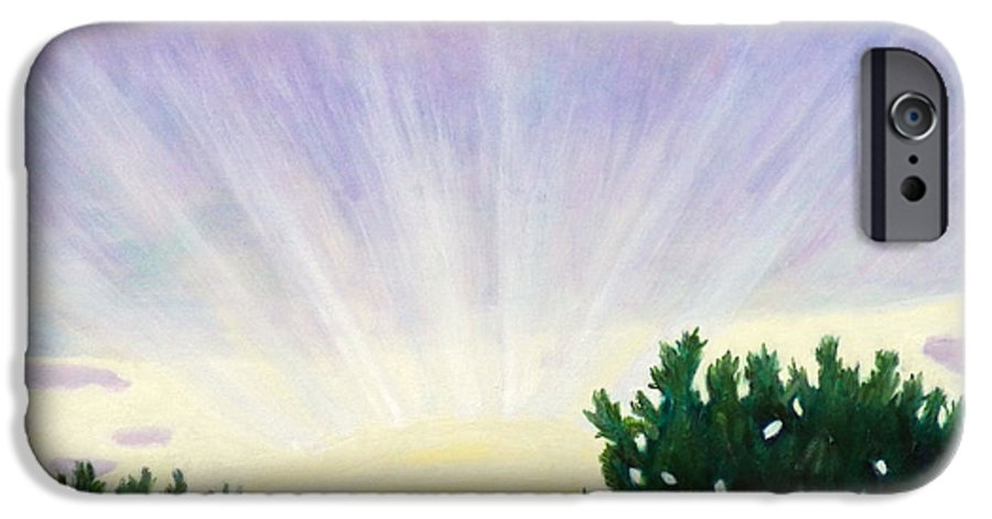 Skyscape IPhone 6 Case featuring the painting Visionary Sky by Brian Commerford