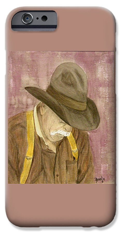 Western IPhone 6 Case featuring the painting Walter by Regan J Smith
