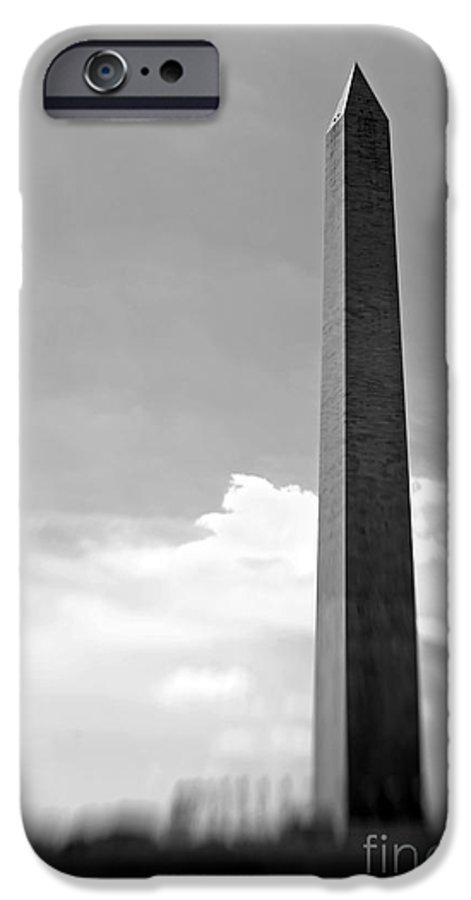 Washington IPhone 6 Case featuring the photograph Washington Monument by Tony Cordoza