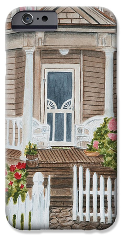 Architecture IPhone 6 Case featuring the painting Welcome by Regan J Smith