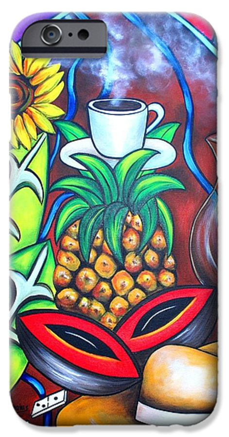 Cuban Paintings IPhone 6 Case featuring the painting Welcome To Here And Now by Annie Maxwell