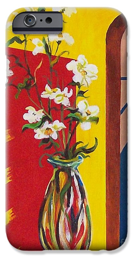 Still Life IPhone 6 Case featuring the painting Window by Sinisa Saratlic