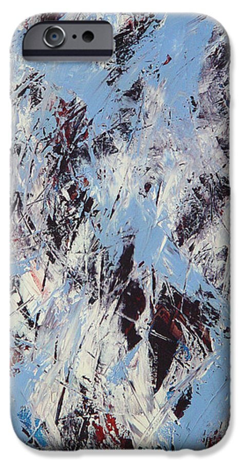 Abstract IPhone 6 Case featuring the painting Winter by Dean Triolo