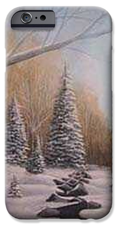 Rick Huotari IPhone 6 Case featuring the painting Winter Morning by Rick Huotari