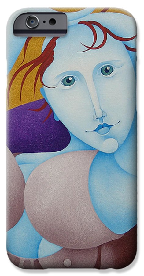 Sacha IPhone 6 Case featuring the painting Woman With Raised Arms 2006 by S A C H A - Circulism Technique