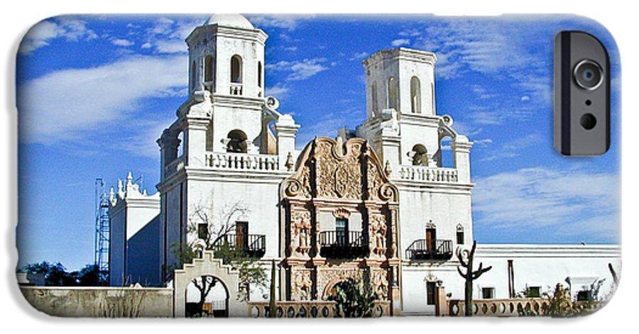 Mission San Xavier Del Bac IPhone 6 Case featuring the photograph Xavier Tucson Arizona by Douglas Barnett